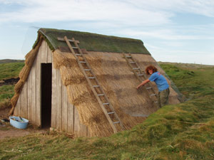 Thatched Seaweed Drying Hut